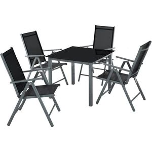 Table et chaise de jardin plastique 4 place(s) - Achat ...