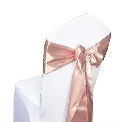 Ceremonie Rubans Noeud Pour Mariage 100pcs Satin Fête Rougir Événement Housse Décoration Rose Anniversaire De Chaise GpLSzqUMV