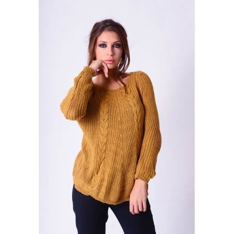 a508d09a55c PULL moutarde t MAILLE TORSADE 5280 Jaune moutarde - Achat   Vente ...