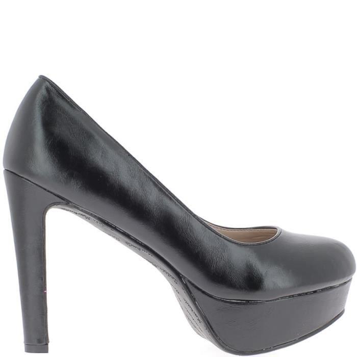 Plateforme Noirs De Noir 13cm Talon Femme Et 4cm Escarpins À 0An4B5qv