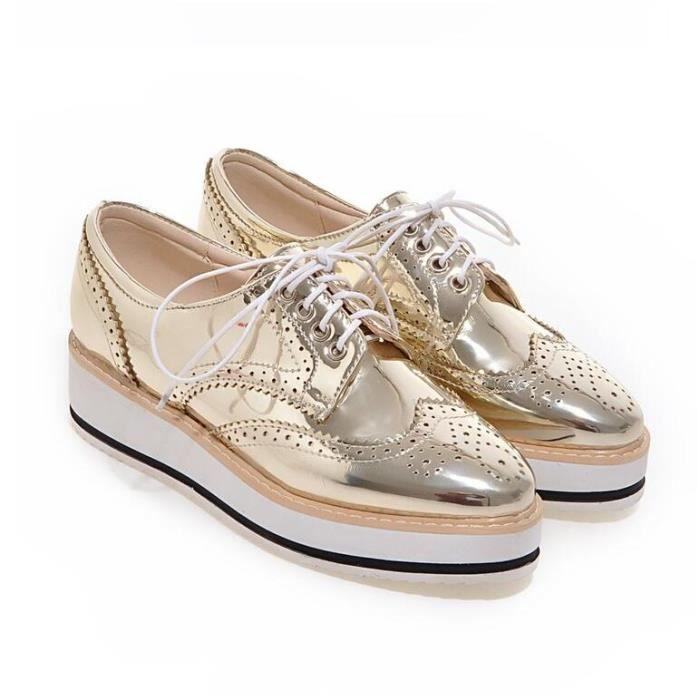 couleur pure mode classique li e semelles paisses de skate Chaussures femme