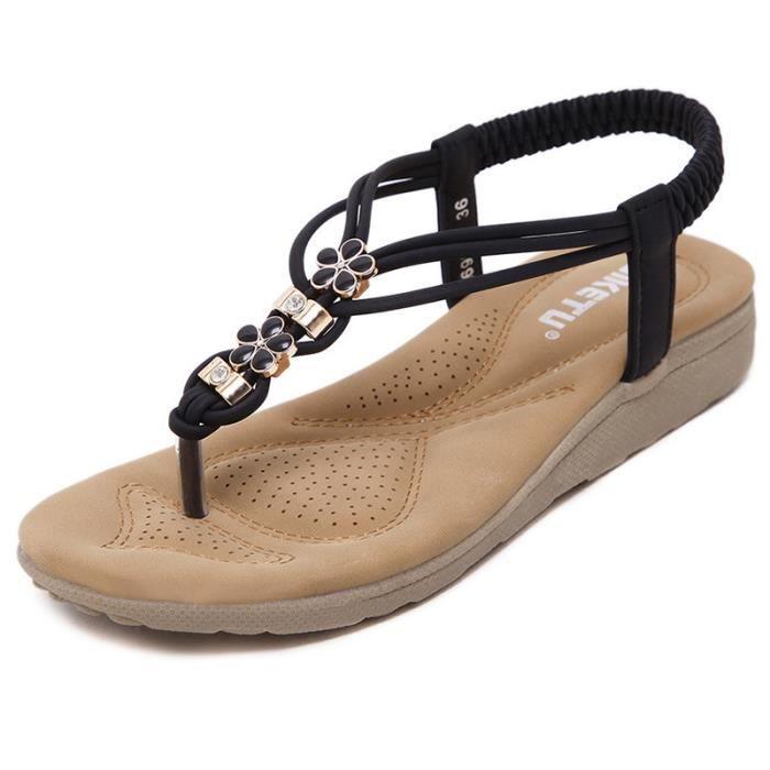 Confort sandales femmes Noir tsLnjho