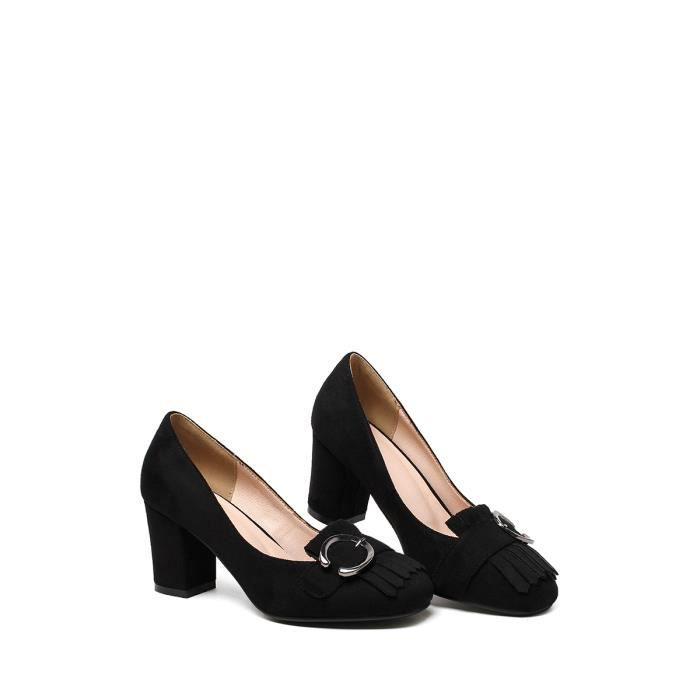Escarpin Bout rond féminin Pompes Tassel sélectionl Comfy élégant Respirant Chaussures solides 8043846