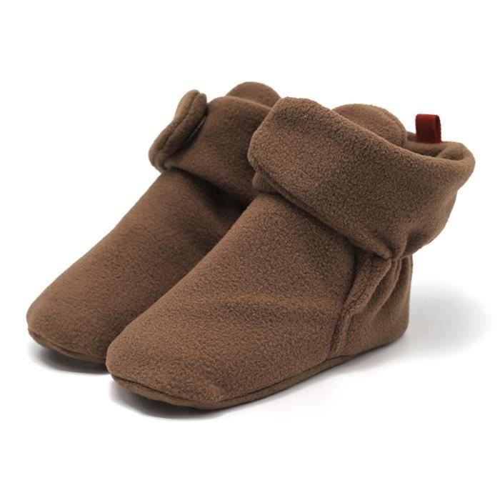 EOZY Chaussure Bébé Fille Garçon Botte Chaud d'Hiver Shoes Anti-Dérapage Souple Kaki BHsdEVBTT