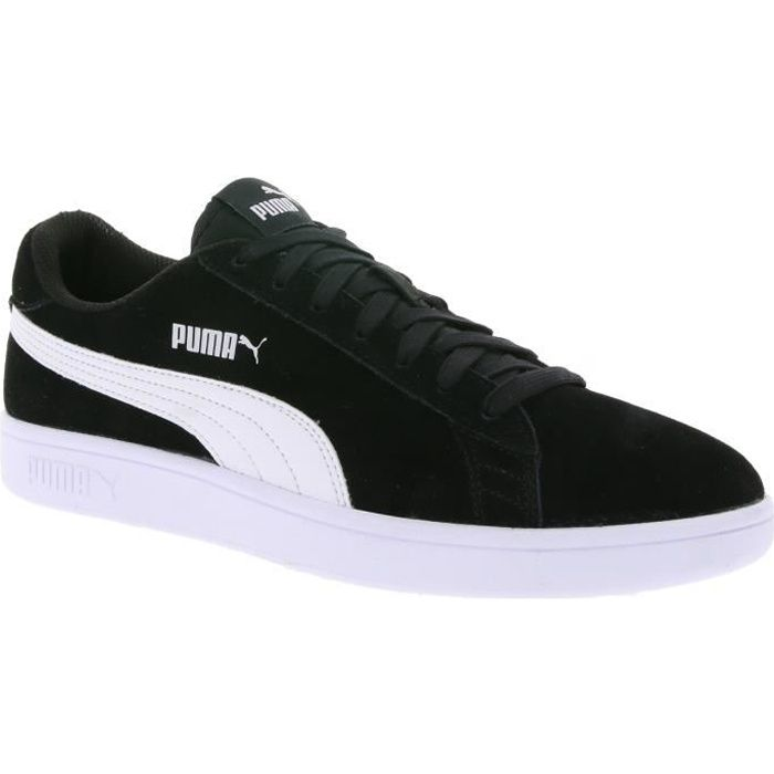 79f19f3c32e6d0 Puma Chaussures de sport en cuir pour hommes Smash v2 noir Noir Noir .