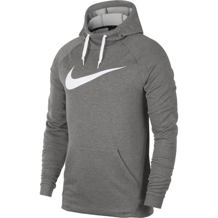 Sweat à capuche Nike Dry Training Gris 2017 - Size X - Achat   Vente ... cb0ce4b41007
