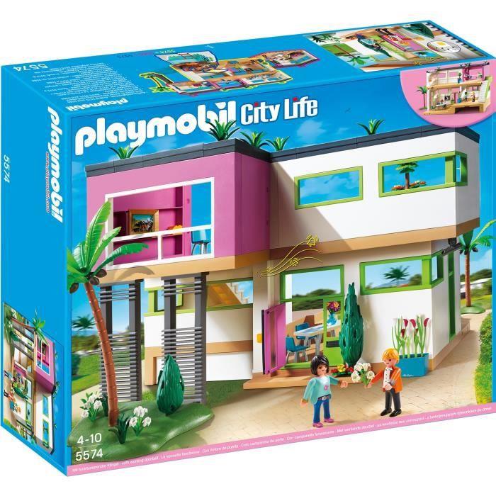 Playmobil 5574 maison moderne achat vente univers miniature cdiscount - Toute les maison playmobil ...