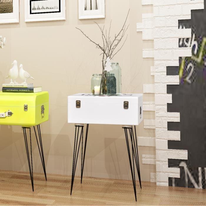 chevet 30x30 blanc achat vente chevet 30x30 blanc pas cher soldes d s le 10 janvier cdiscount. Black Bedroom Furniture Sets. Home Design Ideas