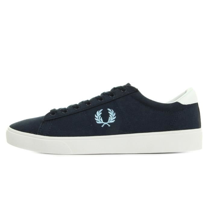 Baskets Fred Perry Spencer Canvas Navy Sky Blue