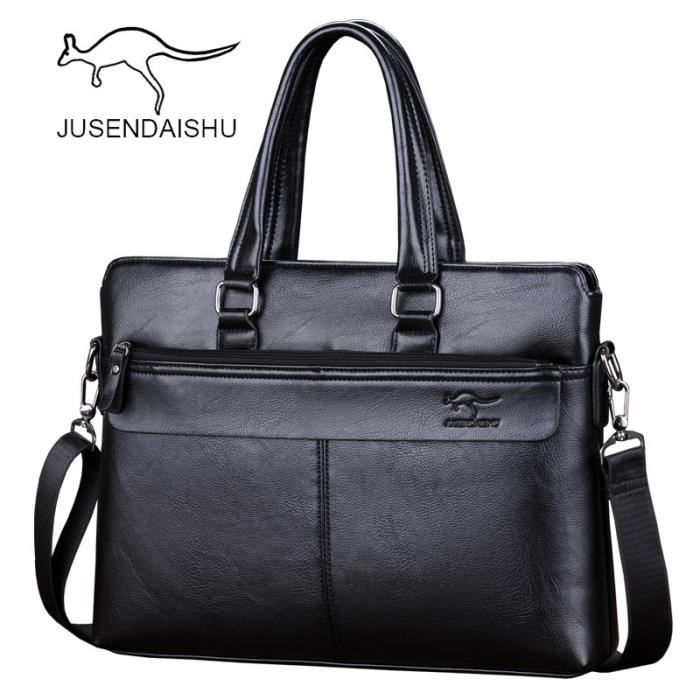 besace Nouvelle marque de luxe en cuir pour homme Homme Casual Bag Porte-documents A4-2298