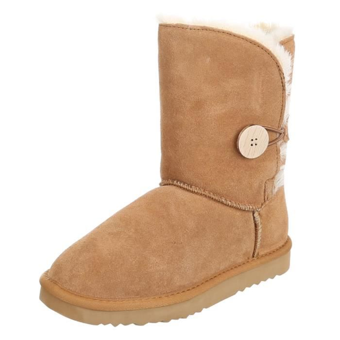 Chaussures femmes bottes chaleureux DOUBLÉ suède o0TraJdC