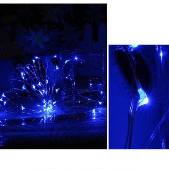 Guirlande Rideaux LED avec Commande Bleu - Achat / Vente banderole ...