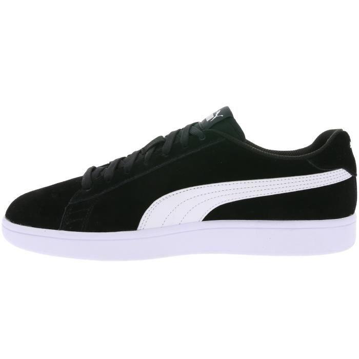 Puma Chaussures de sport en cuir pour hommes Smash v2 noir