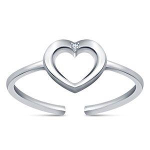 3ba5aa79af2 BAGUE - ANNEAU Nouveau cadeau Bijoux réglable ouvert coeur 925 Ba