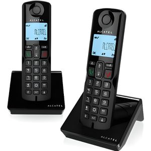 ab4bd4d8e8acaf Téléphone fixe Alcatel S250 Duo Téléphone sans fil avec ID d appe