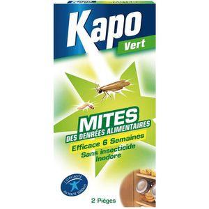 PRODUIT INSECTICIDE Mites alimentaire Kapo Vert - Piège - 2 pièges