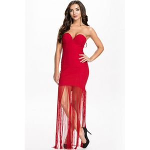 Robe bustier rouge h&m