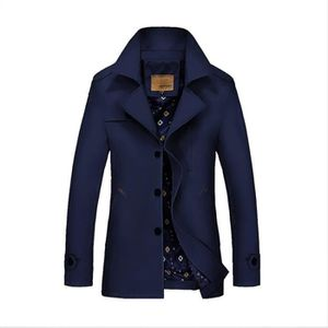 Imperméable - Trench trench homme fashion style britannique revers clas