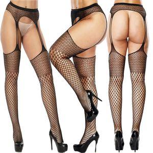 BODY Femmes Sexy Lingerie Résille Ouvert souple Collant