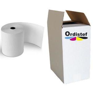 PAPIER THERMIQUE ORDISTEF - BOBINES THERMIQUES 80x80x12 Carton de 5