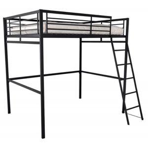 lit mezzanine 140 achat vente lit mezzanine 140 pas cher cdiscount. Black Bedroom Furniture Sets. Home Design Ideas