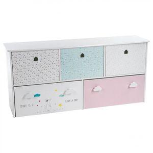 Paris prix meuble de rangement enfant 5 tiroirs sweety for Petit meuble 5 tiroirs
