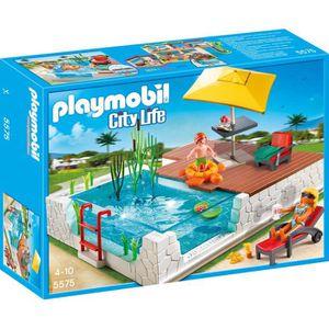 Playmobil la piscine achat vente jeux et jouets pas chers for Piscine playmobil jouet club