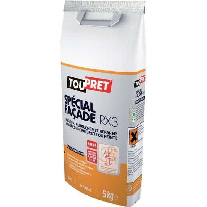 TOUPRET Enduit Spéciale façade RX3 en poudre 5 kg