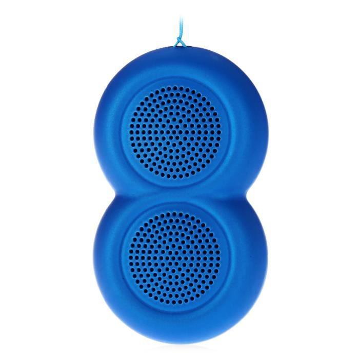 Outdoor Sport Voiture Portable Étanche Antichoc Sans Fil Bluetooth Haut-parleur Bleu