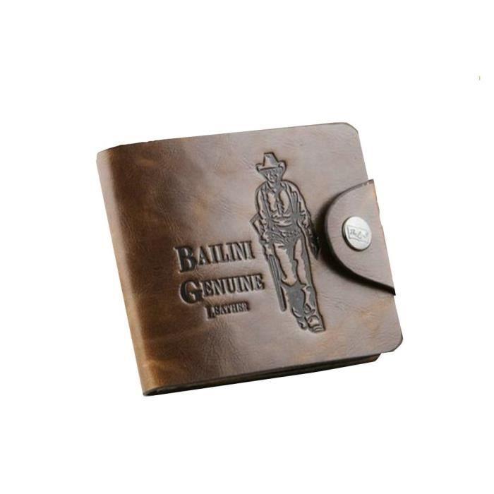 Cowboy Style Vintage hommes Bailini Hunter cuir Bifold Portefeuille ... 8c71233841d