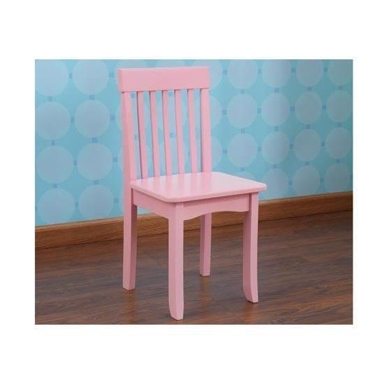 Petite Chaise En Bois Pour Enfant Design Rose Achat Vente Chaise
