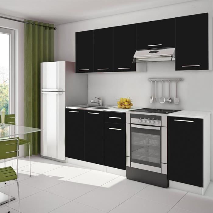 Cuisine aménagée noir laquée design VITA 2 - noir laqué - Achat ...