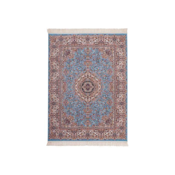 Tapis d\'orient 160 x 230cm en coloris bleu et marron en 100 ...
