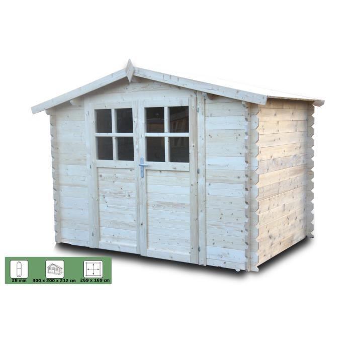CHALET & JARDIN Abri de jardin bois 3x2m 28mm 6m² - Achat / Vente ...