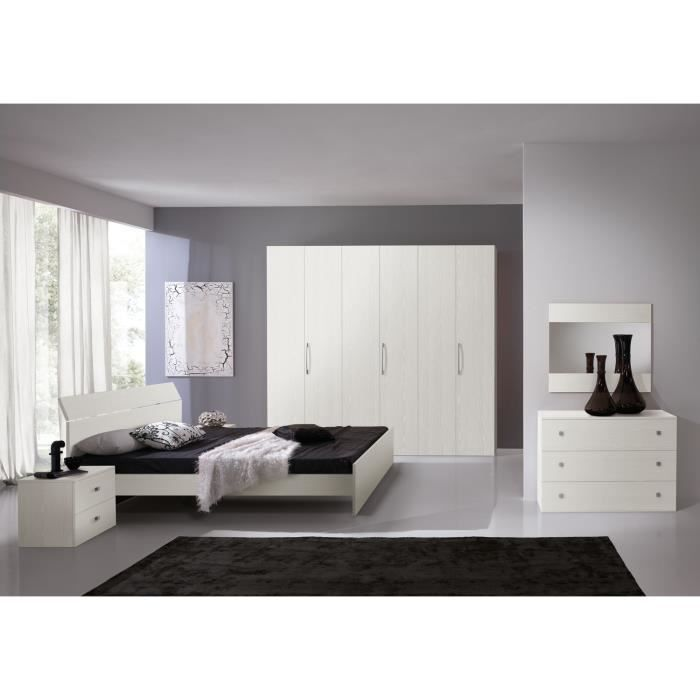 Chambre adulte complète GINGER blanche C30150B