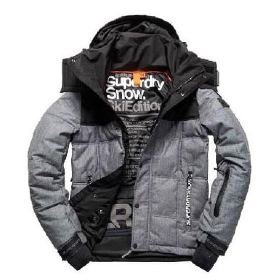 v tements homme vestes casual superdry box snow puffer. Black Bedroom Furniture Sets. Home Design Ideas