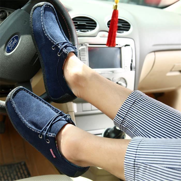 Sneakers Homme Beau Rétro Classique Sneaker meilleur Nouvelle Mode Meilleure Qualité Loisirs Chaussure Rétro Respirant Bleu 46 EGKN0K