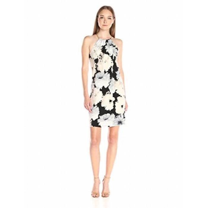 e3303f936cb Calvin Klein Coil Halter Neck Dress U3E3O Noir Noir - Achat   Vente ...