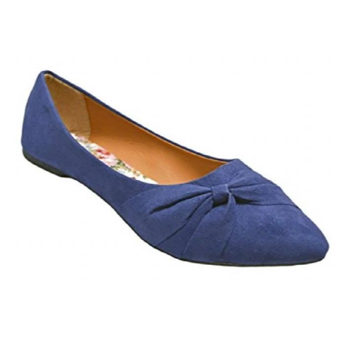 Womens Flats Jersey Soft And Faux Vegan Leather Comfortable Basic Canvas Slip On Ballet Shoes DressNAAHI Taille-41