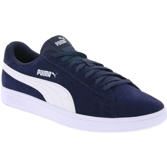 PUMA Real Leather Sneaker Chaussures Homme Smash v2 Bleu nymAx9A0