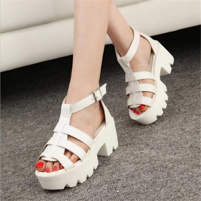 Sandales FemmesNouvelle arrivee Classique Chaussure été Qualité Supérieure Sandale Respirant Plus De Couleur Grande Taille 35-39