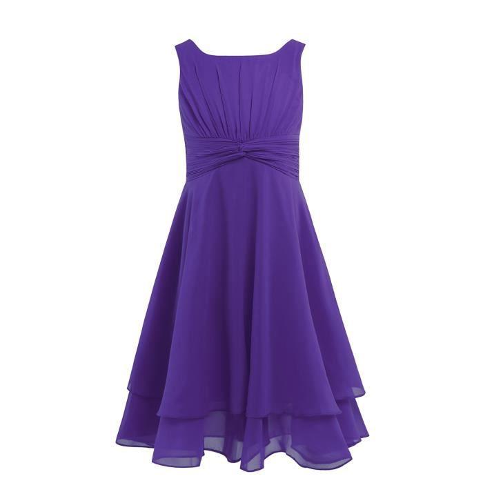 e551aef259991 Robe ceremonie fille violette - Achat   Vente pas cher