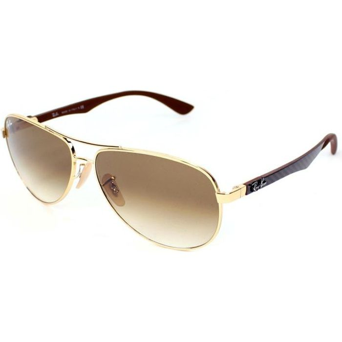 ray ban solaire branche carbone