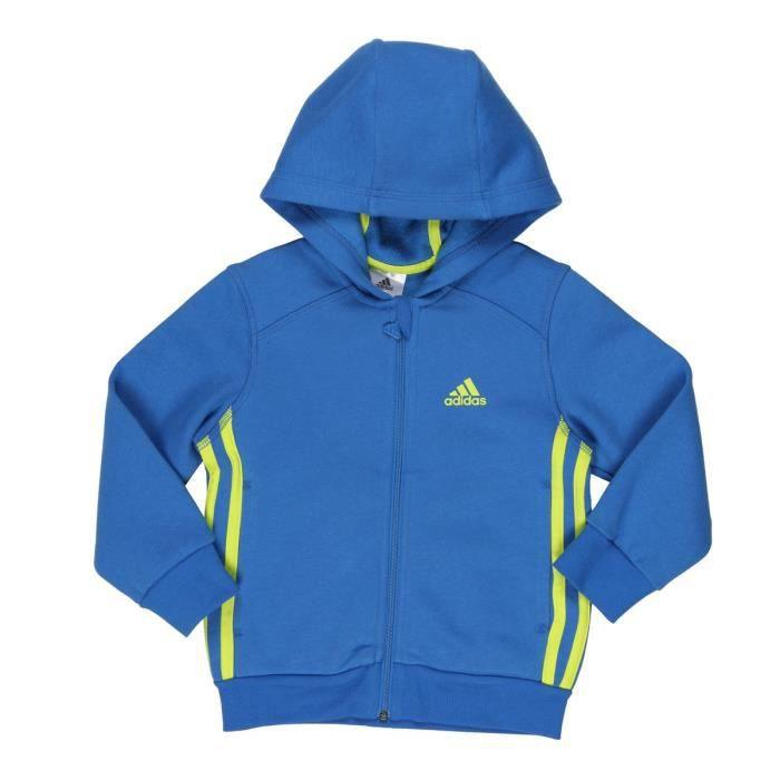Bleu Et Vente Enfant Garçon Adidas Veste Achat Zippée Jaune vI7vTBfq