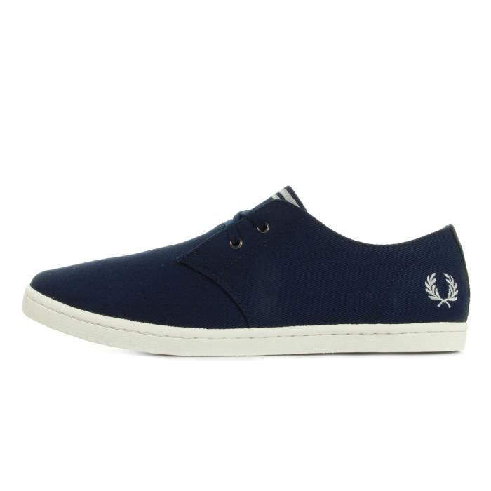 Baskets Fred Perry Byron Low Twill French Navy Silver Czb4C