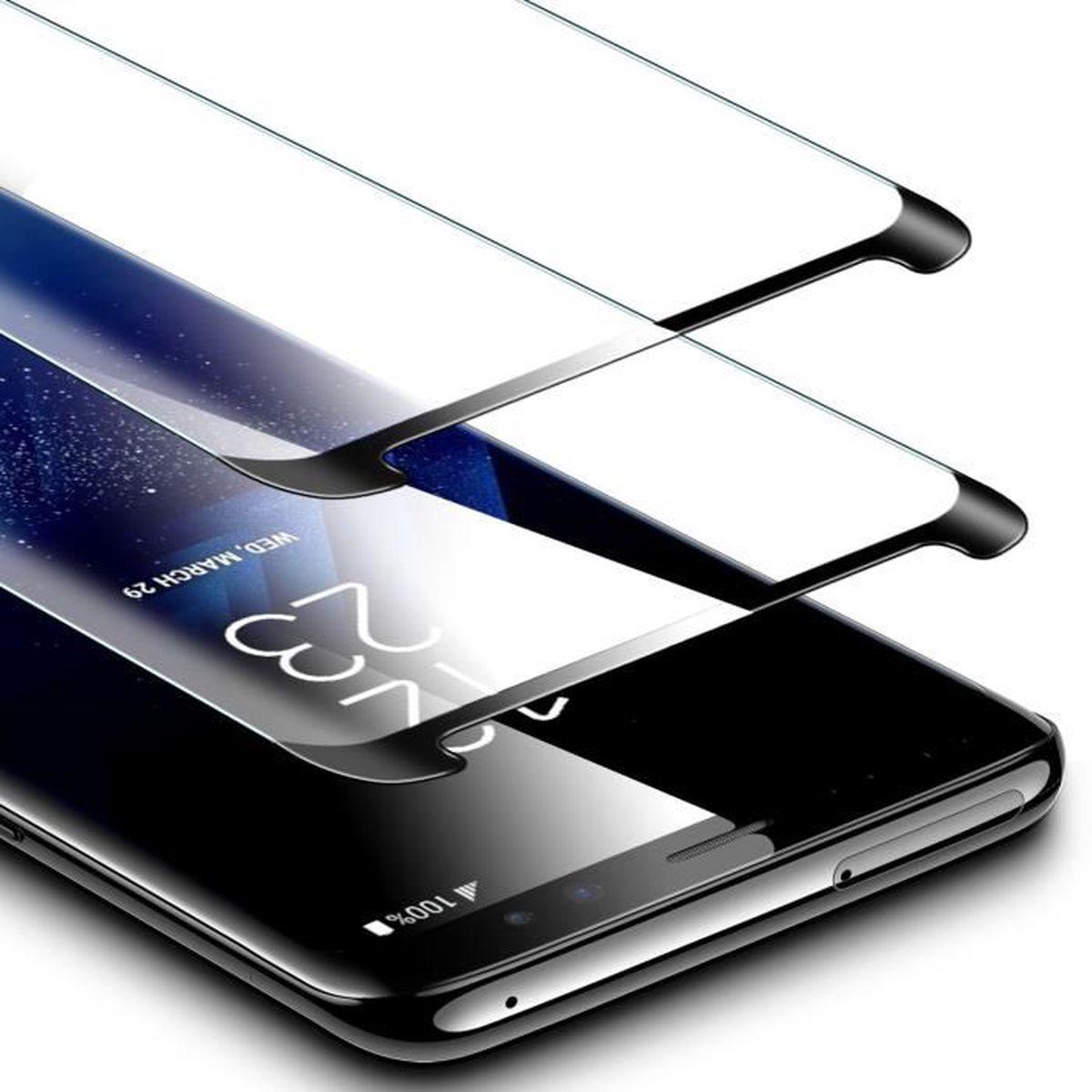 ... 2,Film Protection en Verre Trempé écran Protecteur Ultra Résistant  Indice Dureté 9H pour. HOUSSE - ÉTUI Verre Trempé Samsung Galaxy S9 Pack de  2 ... 796d950728a3