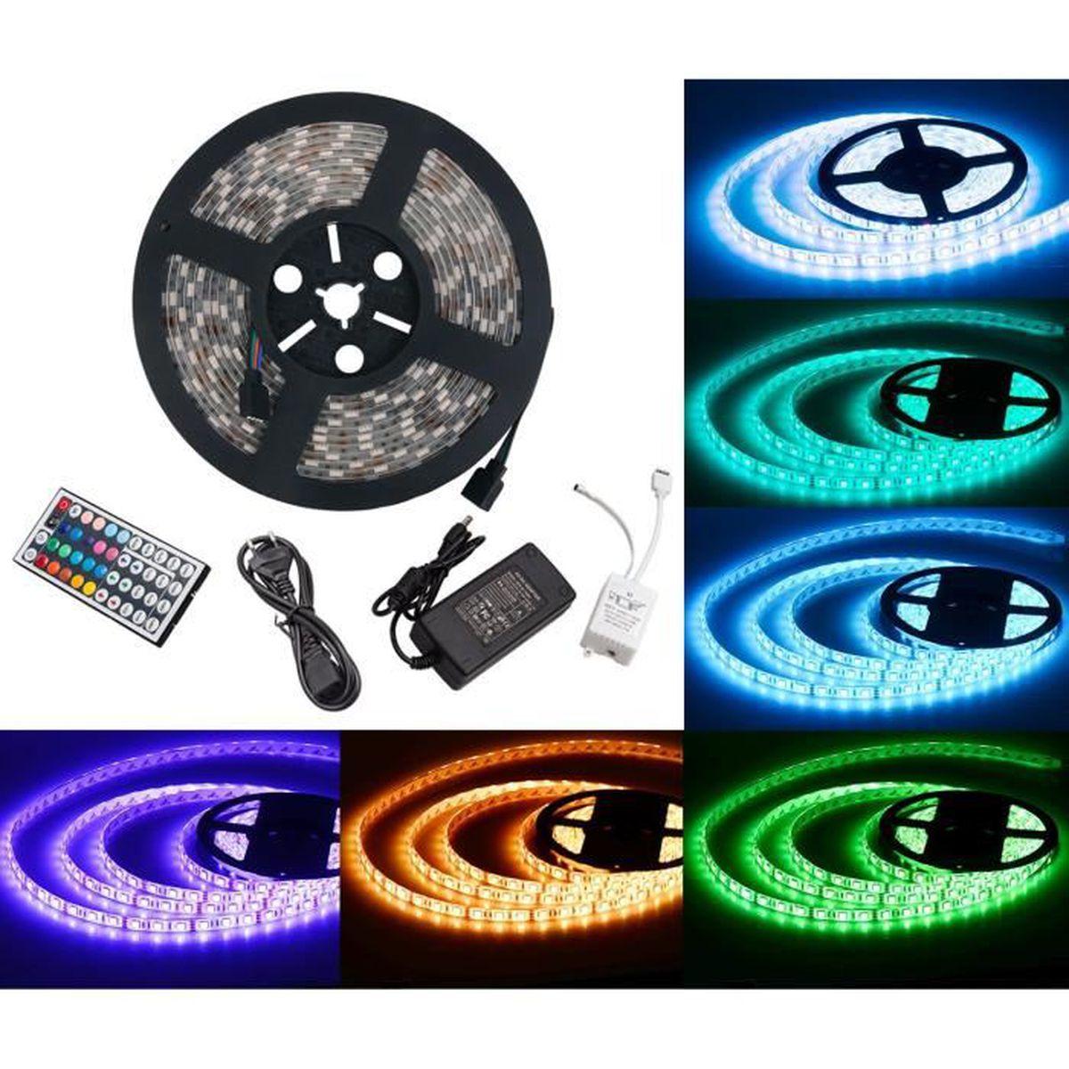 BANDE - RUBAN LED Ruban LED (5m) 5050 RGB SMD Multicolore 300 LEDs 6