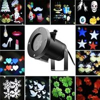 PROJECTEUR LASER NOËL 12 Pattern LED Landscape Projector Halloween décor
