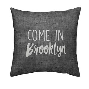 TODAY Coussin déhoussable Chambray Coton BROOKLYN - 40x40cm