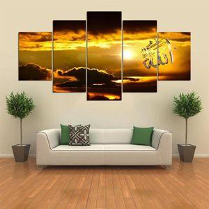 TABLEAU - TOILE 5 pièces de toile imprimée islamique musulman doré